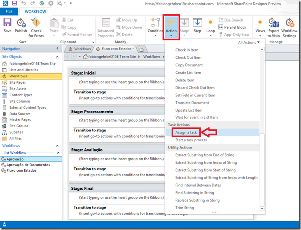 Criando Workflows Complexos no SharePoint Designer 2013 (4/6)