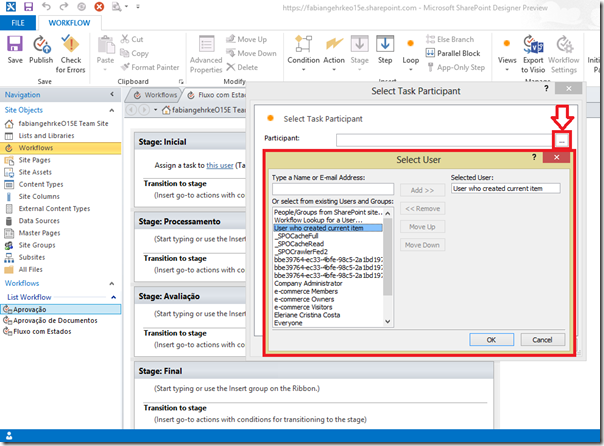 Criando Workflows Complexos no SharePoint Designer 2013 (6/6)