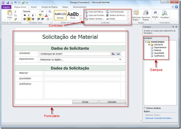 Publicando Formulário InfoPath no SharePoint 2010 (3/6)